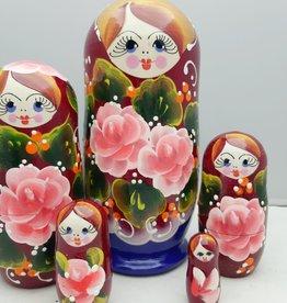 Russian Nesting Doll (5) 13-16 cm