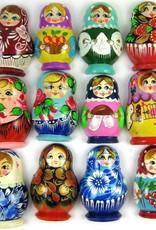 Matryoshka magnet, different colors.