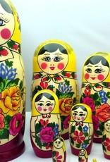 Matroesjka Semenov set 10 stuks (24-25 cm hoog)