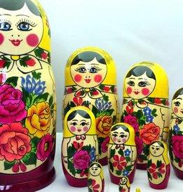 Matrjosjka dukker Semenov 10 stykker (24-25 cm høy)