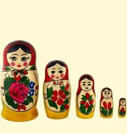 Matroesjka Set 5 origineel Semenov 16cm hoog