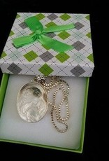 Cameo with silver necklace