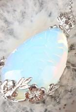 Opal gümüş kolye