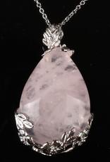 Ροζέ Χαλαζίας αργύρου κρεμαστό