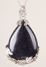 Goldstone Crystal Silver Pendant