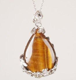 Tigereye pärla med silver hänge