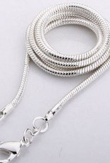 Tigereye perle med sølv anheng