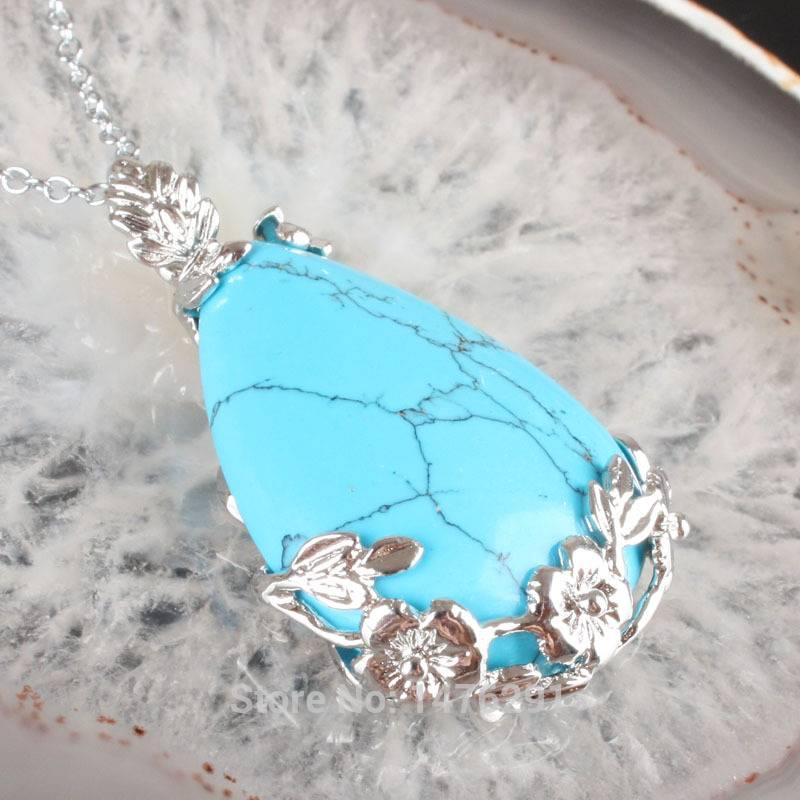 Turquoise avec pendentif en argent