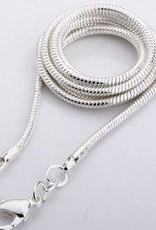 Sort dråbeformet onyx med sølv vedhæng