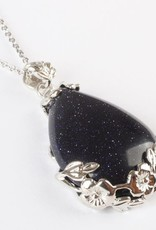 Goldstone Crystal Sølv anheng