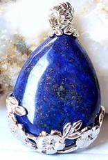 Lapis lazuli met zilveren hanger