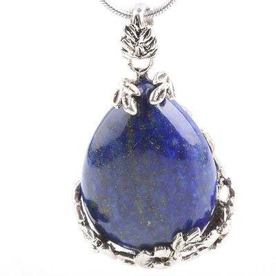 Lapis lazuli med sølv anheng