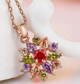 18k χρυσό τεχνητό διαμάντι μενταγιόν αστέρι