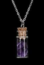 Ametist Gümüş kristal kolye