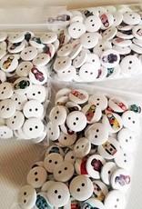 6 ubrania przyciski matryoshka 10-15 mm motywy mieszane
