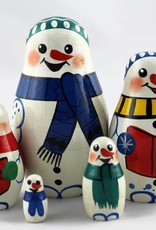 Christmas gift Santa Claus 9-11cm Set 5 pieces