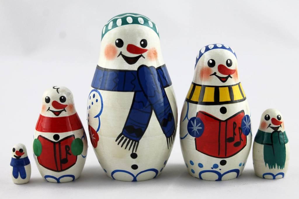 Święty Mikołaj 9-11 cm-zestaw 5 sztuk
