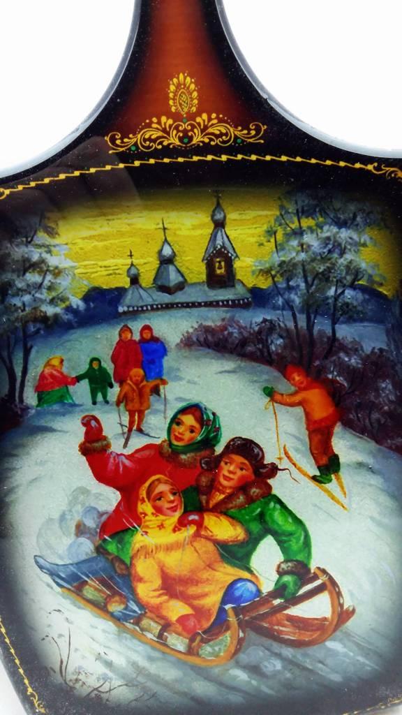 Matrjosjka Russiske dukke deko skærebræt 24/28 cm