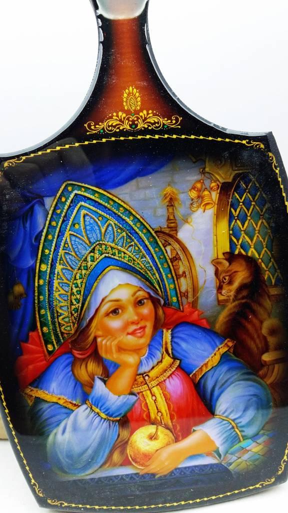 Matroschka Russische Puppe Deko Schneidebrett 24/28 cm
