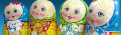 Matrjosjka, ofta kallad babusjka/babushka eller rysk docka utanför Ryssland