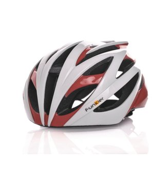 Funkier Funkier Tejat Road Elite Helmet White/Red 58-61cm