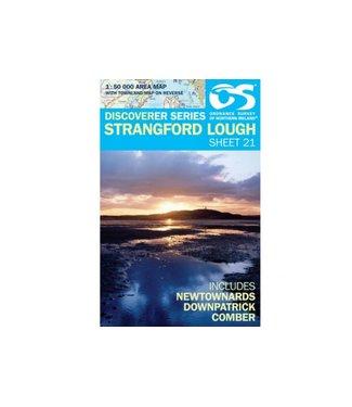 Ordnance Survey OS Discoverer Series  Map Strangford Lough Sheet 21 1:50000