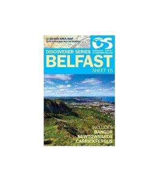 Ordnance Survey OS Discoverer Series Map Belfast Sheet 15