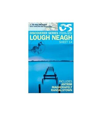 Ordnance Survey OS Discoverer Series Map Lough Neagh Sheet 14