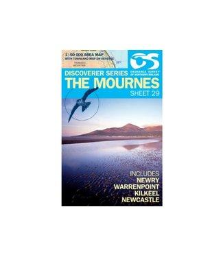 Ordnance Survey OS Discoverer Series Map The Mournes  1:50 000 Sheet 29