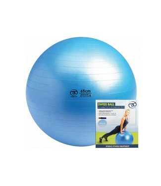 Fitness Mad Fitness Mad Swiss Ball 65cm with Hi-Speed Pump