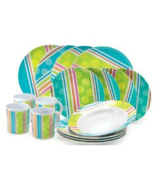 Gelert Gelert Melamine Dinner Set 16 Piece