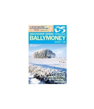Ordnance Survey OS Discoverer Series Ballymoney 1:50 000 Sheet 08