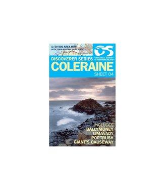 Ordnance Survey OS Discoverer Series Coleraine 1:50 000 Sheet 04