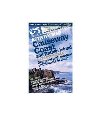 Ordnance Survey OS Activity Map Causeway Coast and Rathlin Island 1:25 000 Scale
