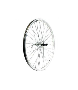 """KX KX MTB 26"""" Single Wall Q/R Screw On Rear Wheel Silver"""