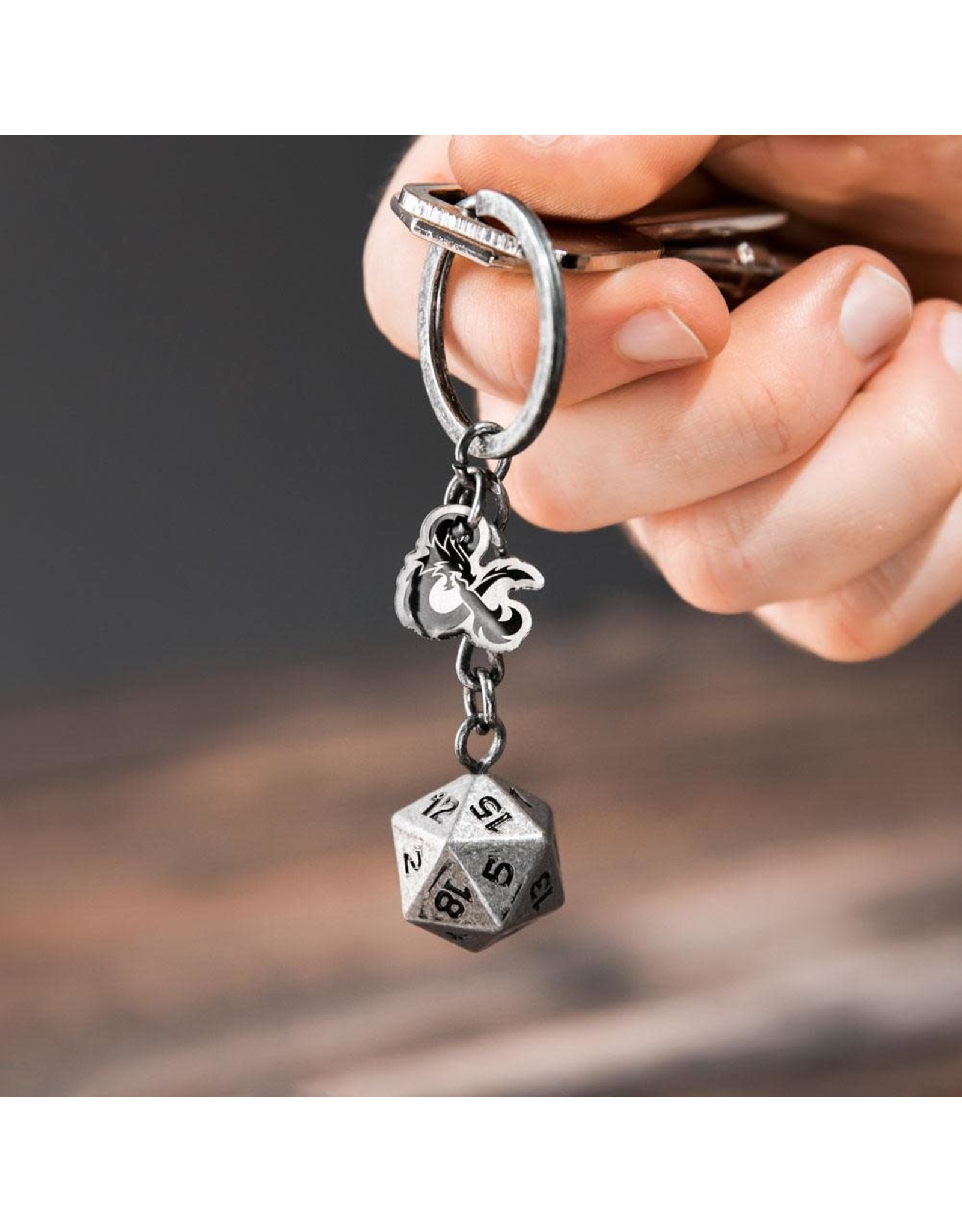 Paladone DUNGEONS & DRAGONS Metal Keychain - D20