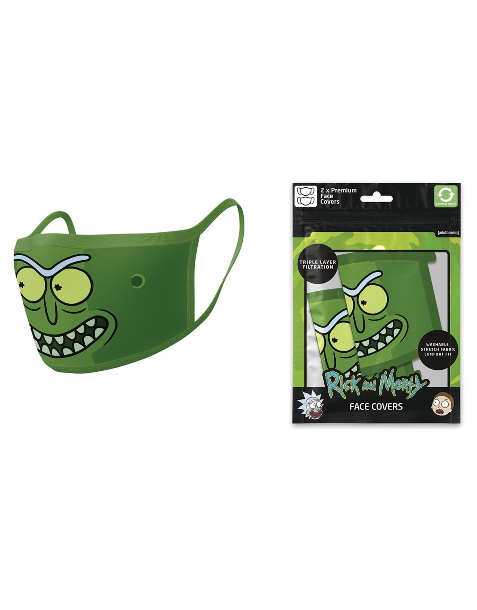 Pyramid International RICK AND MORTY Premium Face Mask Covers pack of 2 - Pickle Rick