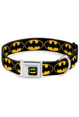 BATMAN Dog Collar (S) 22/38 - 2,5 Cm - Black/Logo