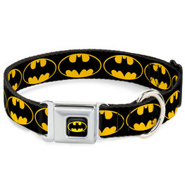 BATMAN Dog Collar (S) 22/38 - 2,5 Cm - Black/Logo