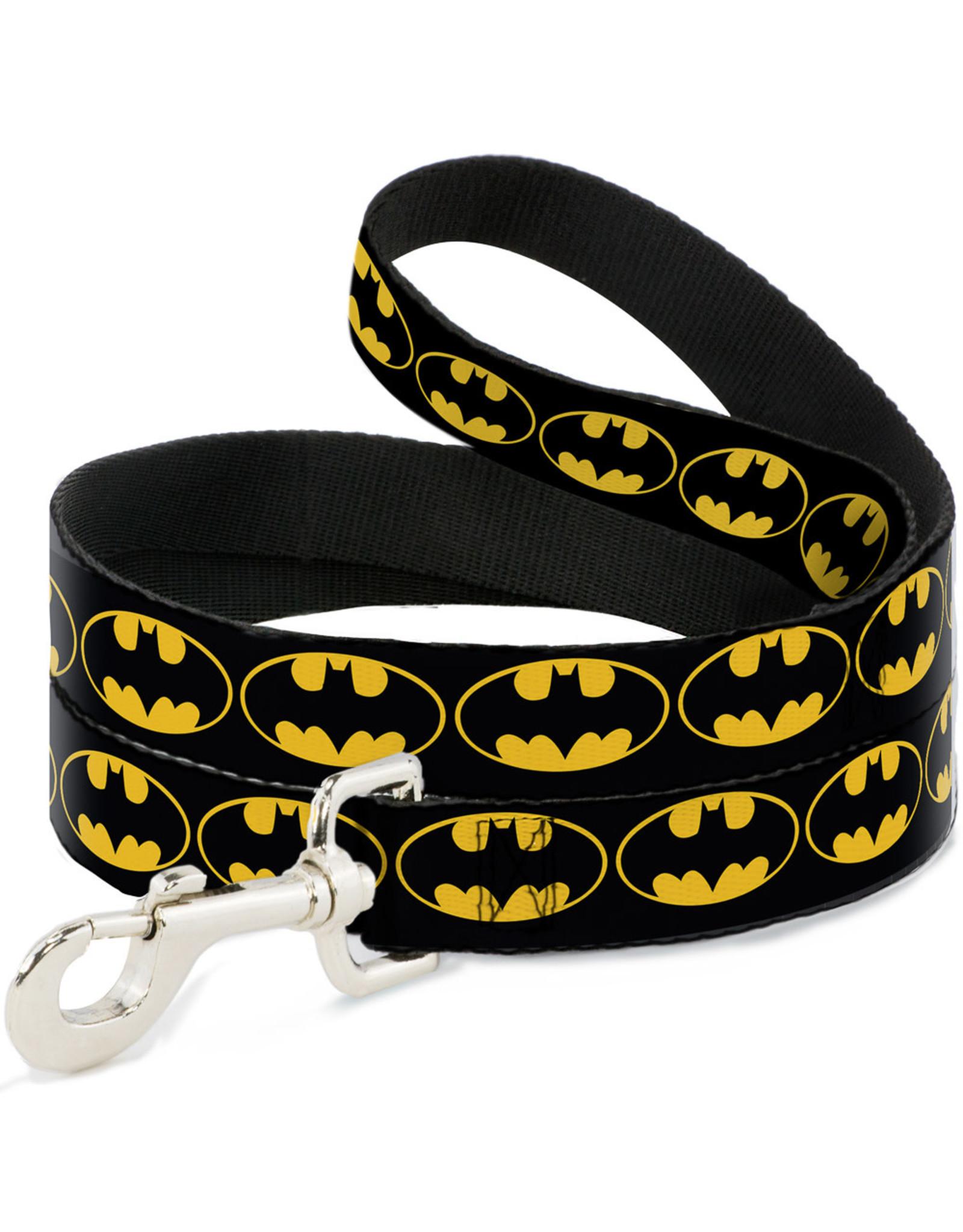 BATMAN Dog Leash 1,2 M - 2,5 Cm - Black/Logo