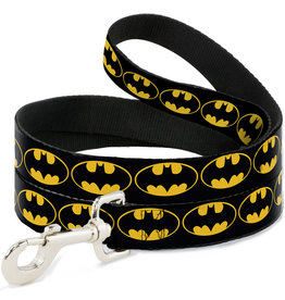 BATMAN Dog Leash 1,2 M - 2,5 Cm - Black/Logo