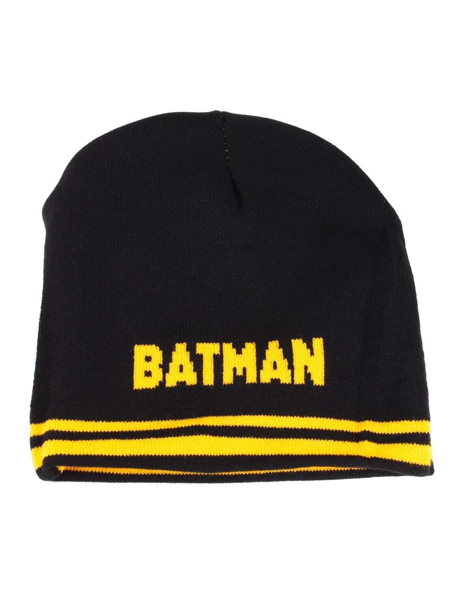 BATMAN Reversible Black/Yellow Beanie - Classic