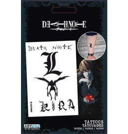 DEATH NOTE - Tattoos : Pack of 4 Tattoos