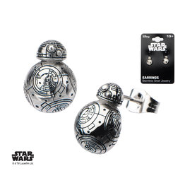 STAR WARS - Stainless Steel BB-8 Droid Polish 3D Stud Earrings