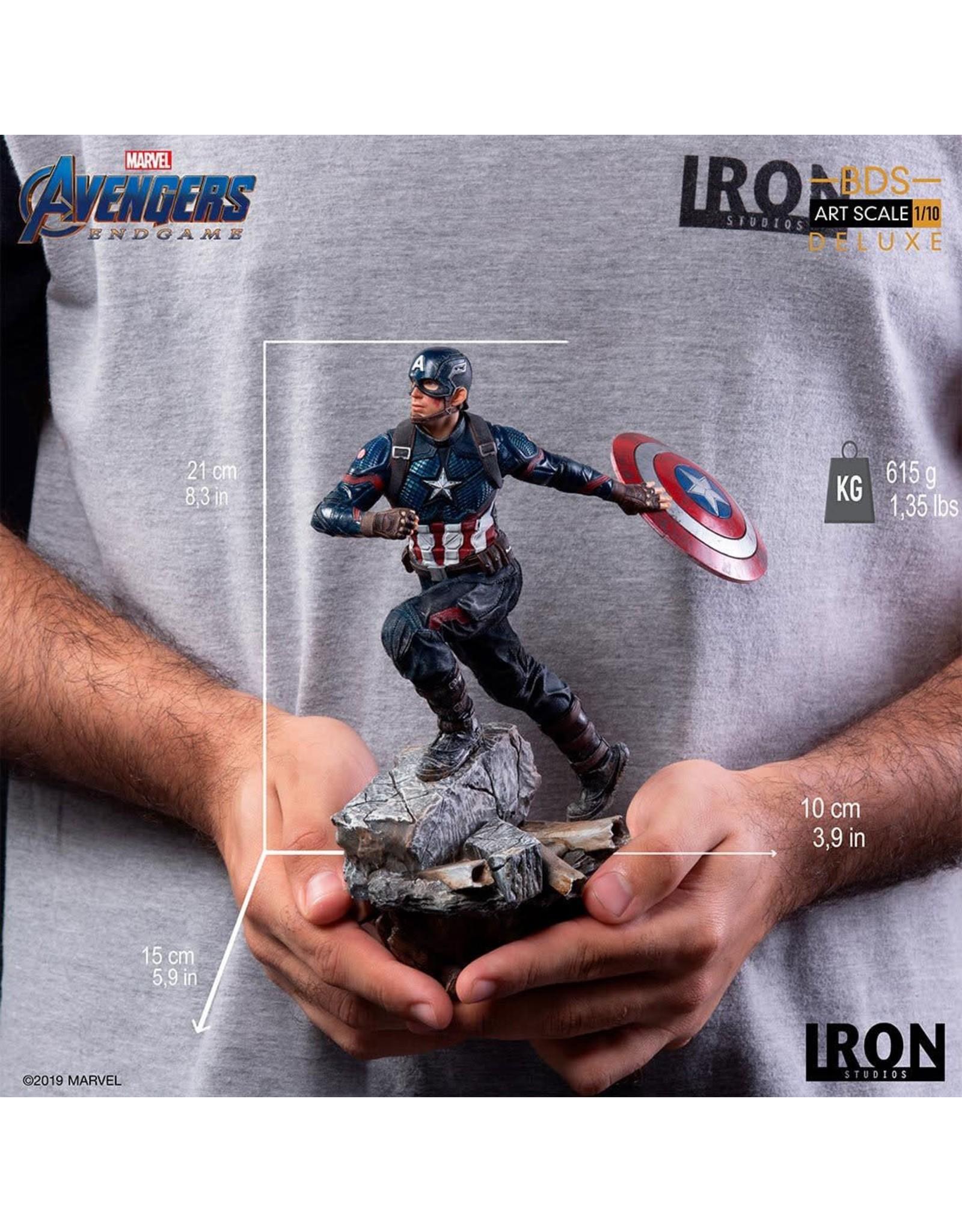 Iron Studios AVENGERS ENDGAME Deluxe Version Statue 21cm - Captain America