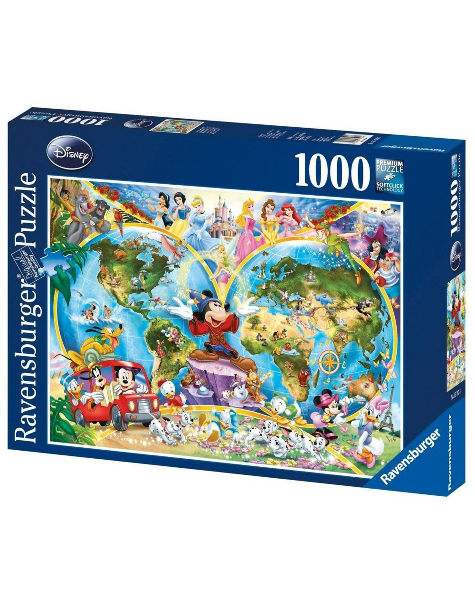 MICKEY MOUSE Puzzle 1000P - Mickey World