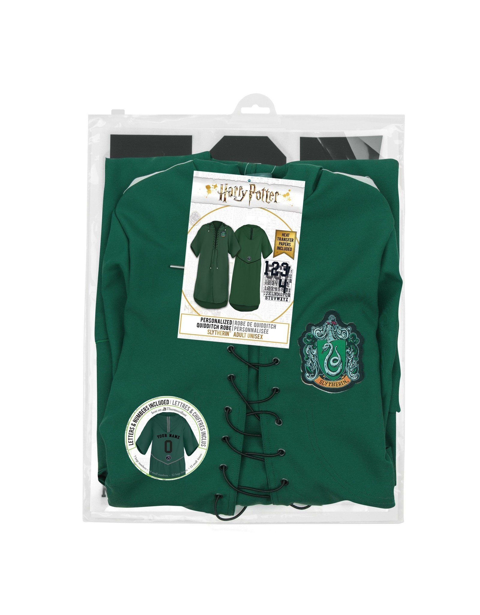 HARRY POTTER Personalised Kids Robe - Slytherin Quidditch
