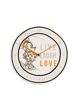 MINNIE MOUSE Clock 25 cm - Live Laugh Love Orange