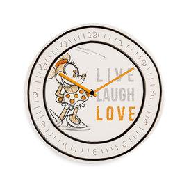 MINNIE MOUSE Clock 25 cm - Live Laugh Love Orange