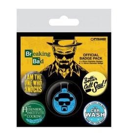 BREAKING BAD 5-Pack Badges - Heisenberg Flask